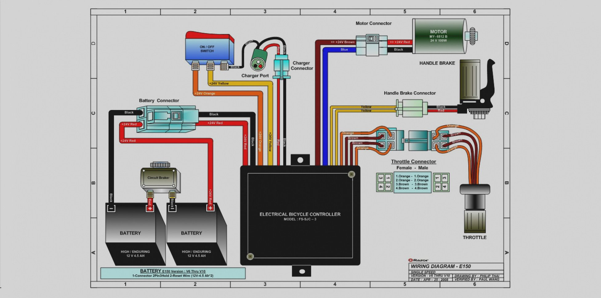 Rascal 245 Mobility Scooter Wiring Diagram