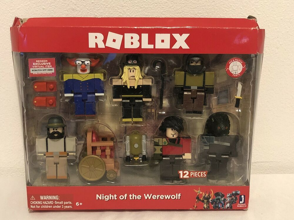 Roblox Night Of The Werewolf Action Figure 6 Pack 12 Pieces Clown Hooded Code 191726004196 Ebay Action Figures Action Figure Accessories Roblox