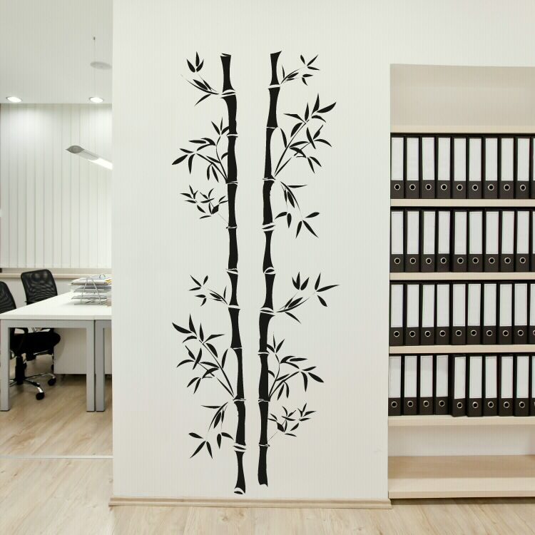 Genial Chinese Bamboo Tree Wall Sticker
