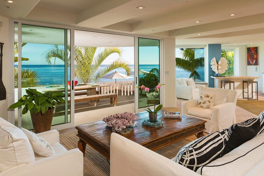 Living Room Overlooking The Sea Luxurious Masterfully