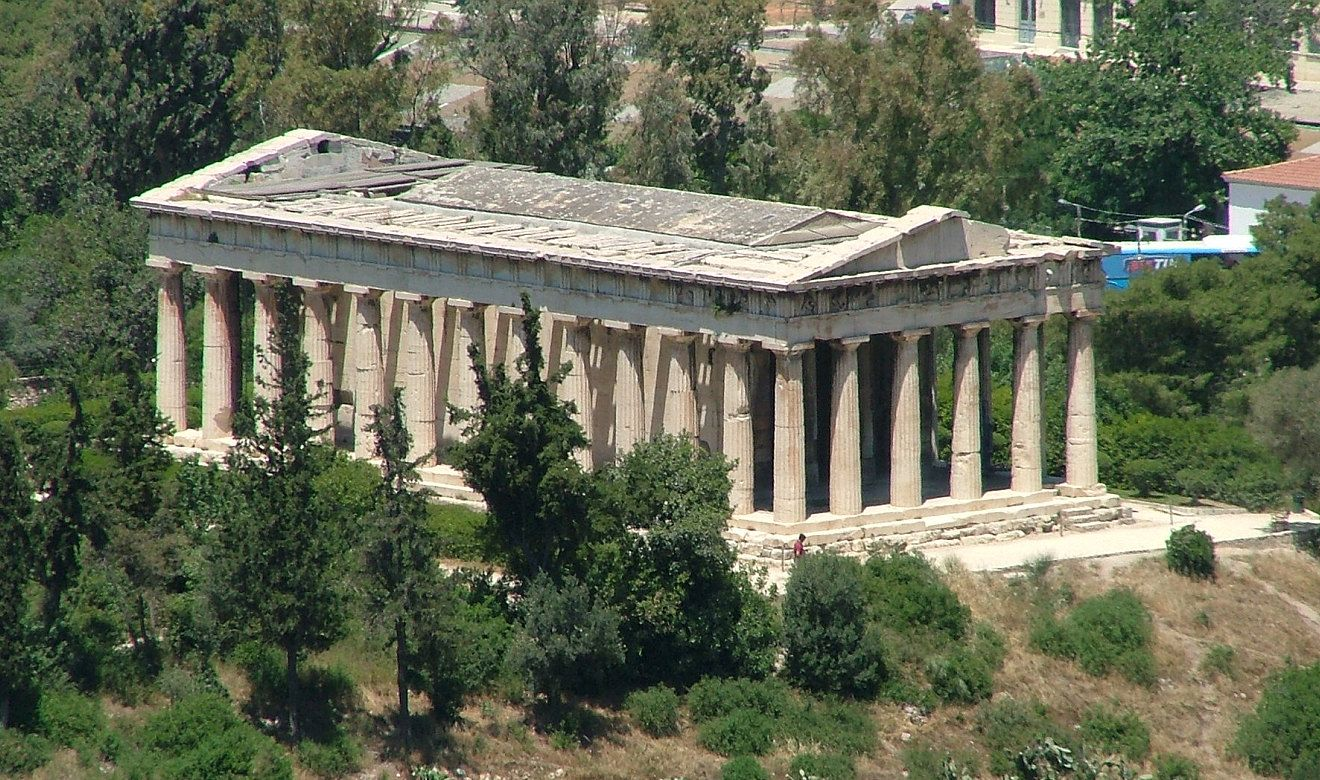 Hephaisteion On The Hill Of The Agora Athens Monumental