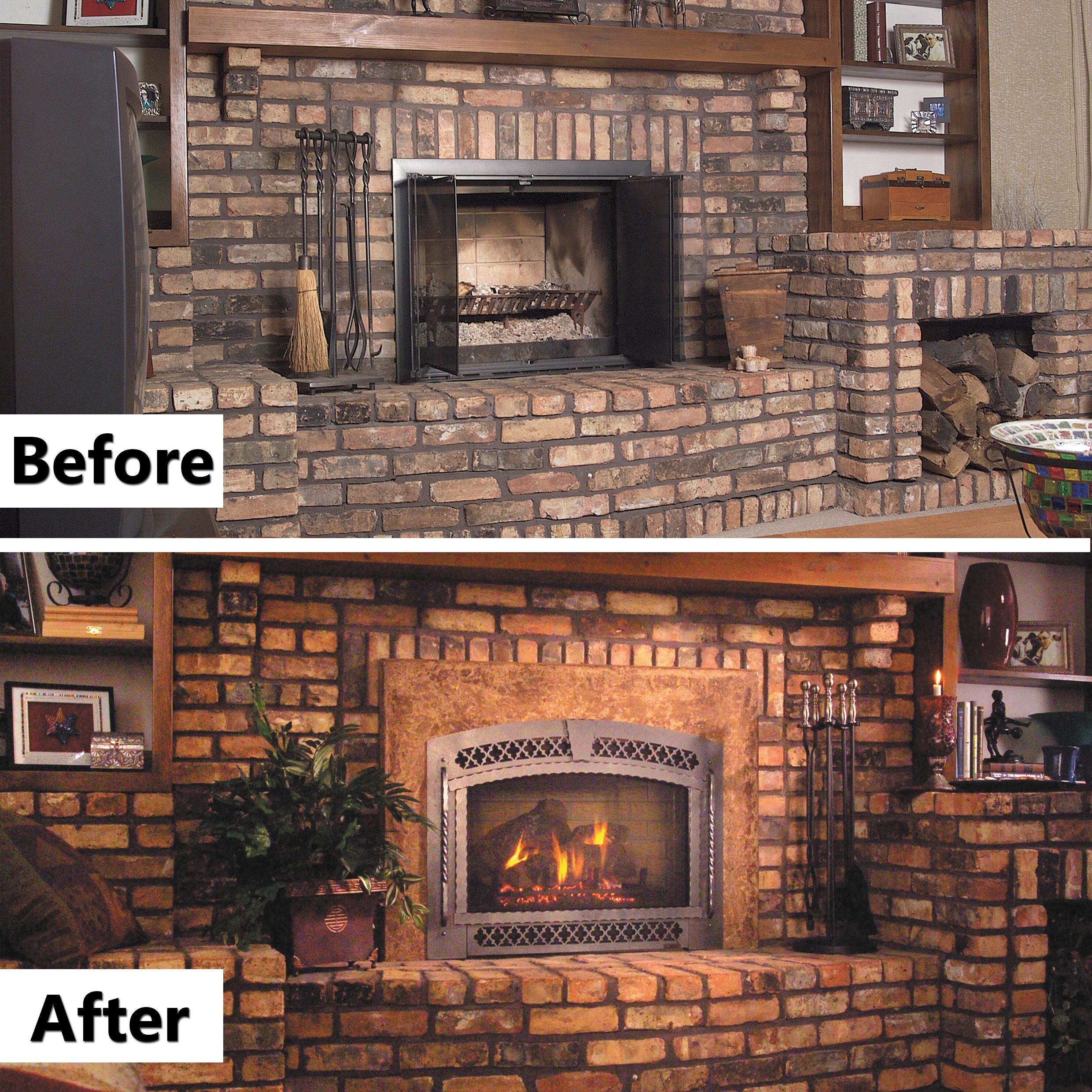Heat Amp Glo Cerona Fireplace With Chateau Deluxe Front In