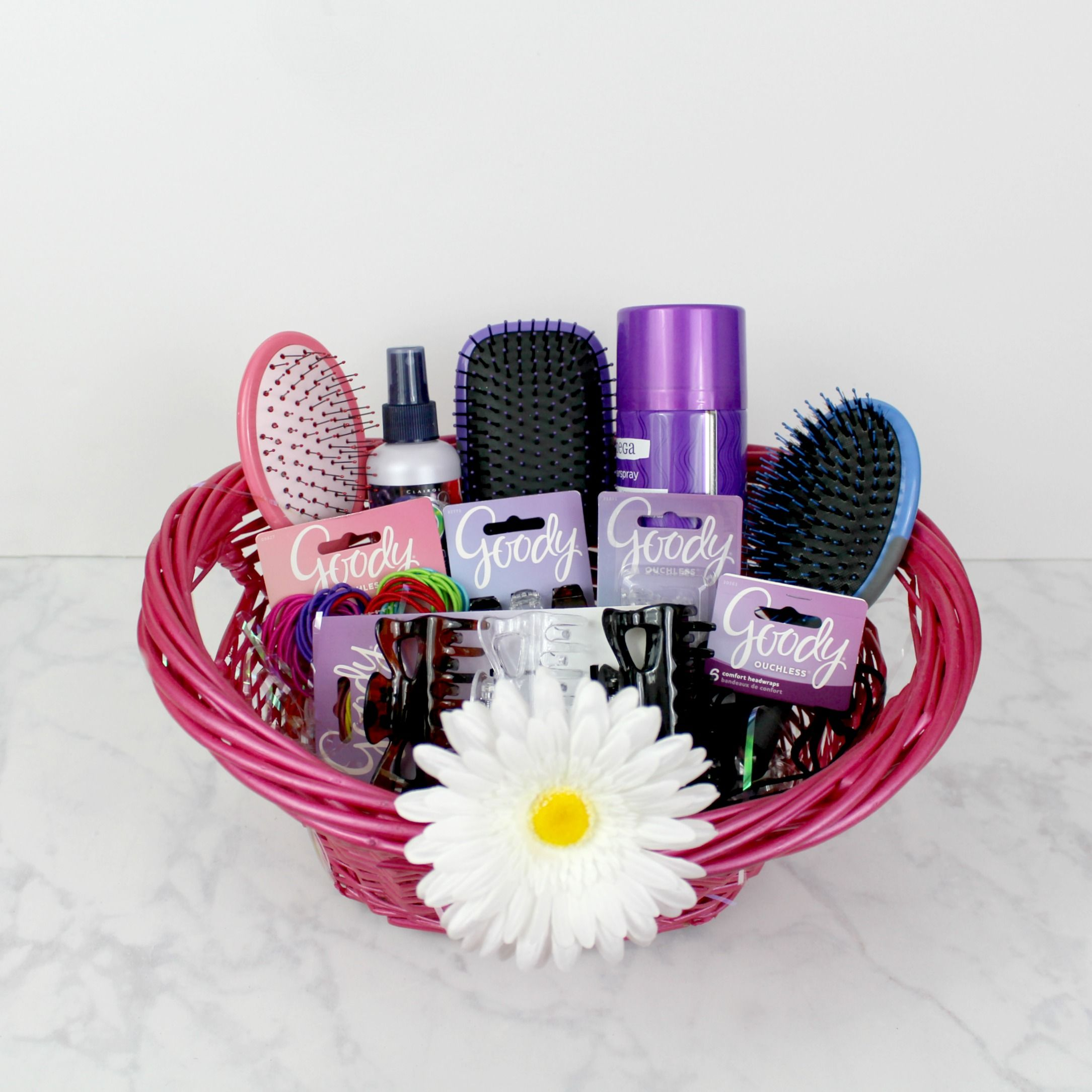 Diy Tween Hair Care Gift Basket Goodybrushed Hair Care Gifts Girl Gift Baskets Hair Product Gift Basket