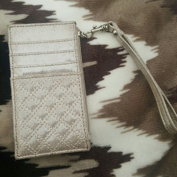 Express metallic card/money holder wristlet Express metallic card/money holder wristlet. Very convenient, especially while you are painting the town at night! Excellent condition, only used once. No trades. If you BUNDLE 3 items, you get 15% off ?? Express Bags Clutches & Wristlets