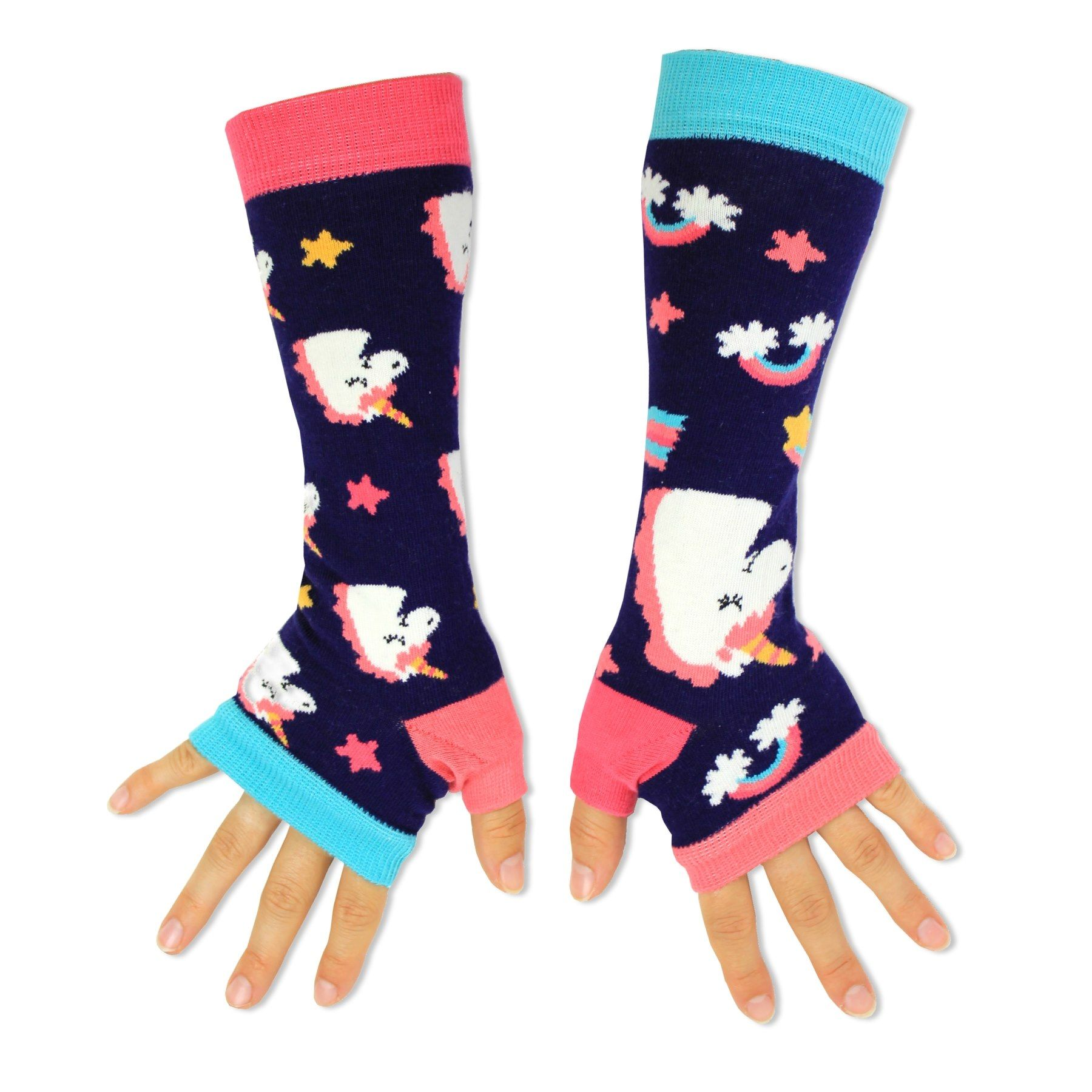 Friends Gift Idea United Oddsocks Colourful Unicorn Funky Armwarmers