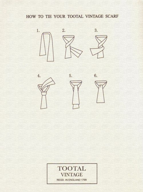 ce24622cfa9 How To Tie Your Tootal Vintage Scarf.