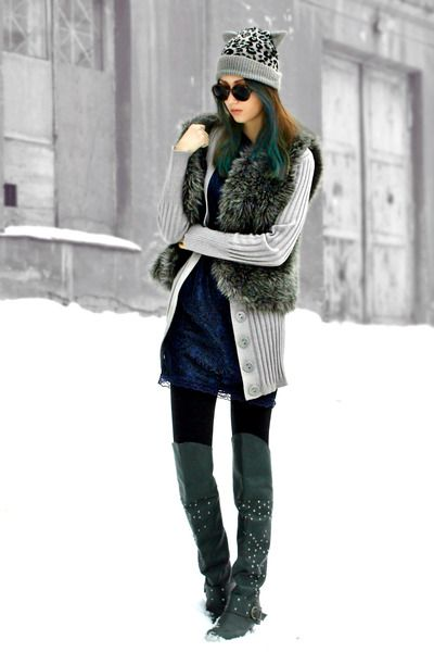 17 Best images about How to wear Over-The-Knee Boots on Pinterest ...