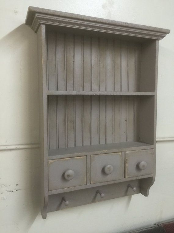 French Country Wall Shelf Cottage Chic Shaker