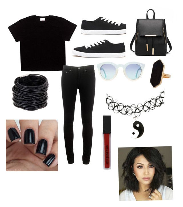 """""""Unique chick✨"""" by kaelynfeliciano ❤ liked on Polyvore featuring rag & bone, Forever 21, Jaeger, Saachi and Smashbox"""