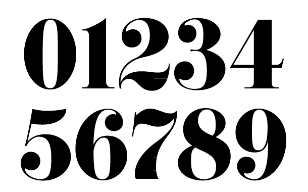 different number fonts