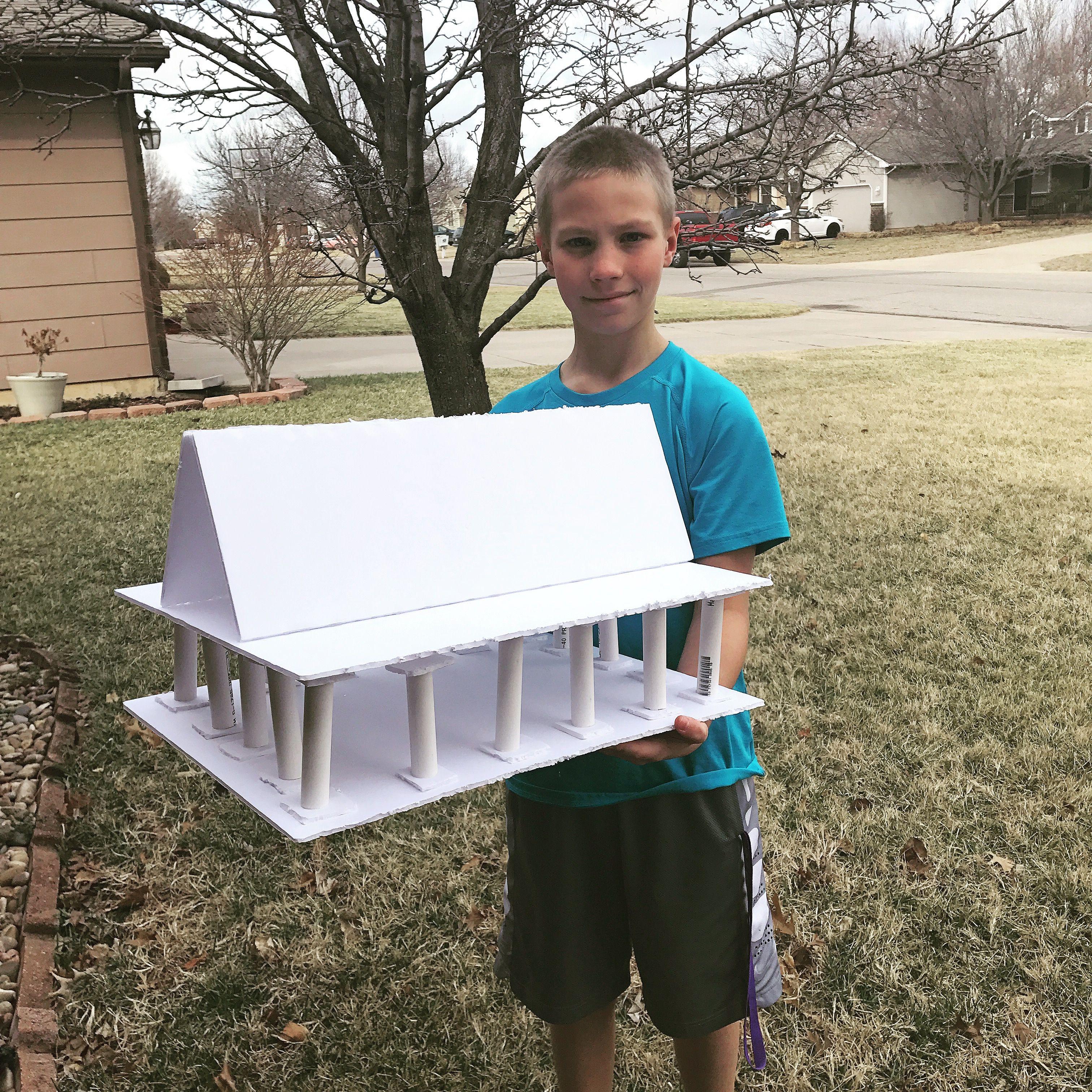 Greece Parthenon Model 6th Grade Project
