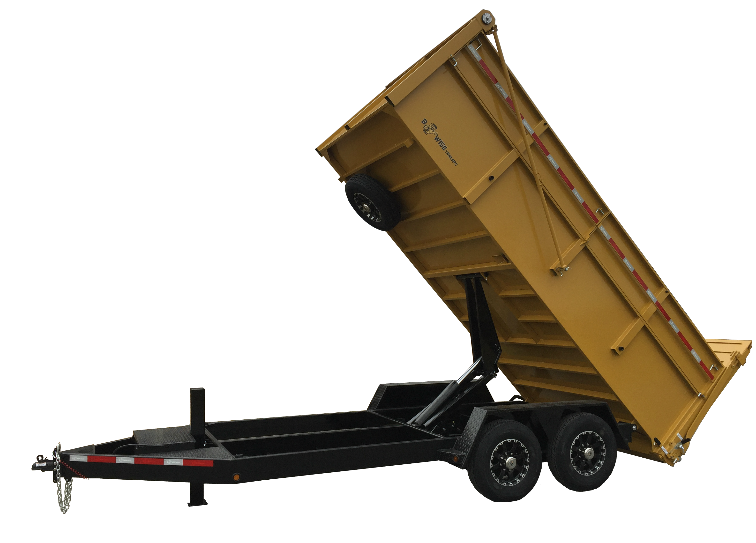 BWise Ultimate Dump Trailer in CAT Yellow with Hammer Tone Black ...