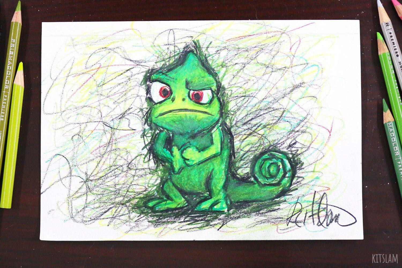 Originals Pascal Cartoon Drawing Pascal Chameleon Art Pascal Drawing Tangled Art Tangled Drawing Tangle Cartoon Art Styles Rapunzel Drawing Cartoon Art