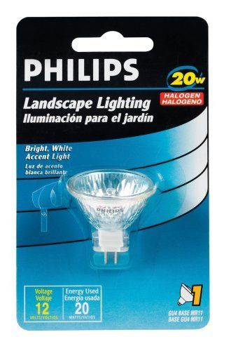 Philips Landscape Lighting 20 Watt 12 Volt Mr11 By Philips 5 20 From The Manufacturer Landscape Lighting Landscape Lighting Bulb Flood Lights