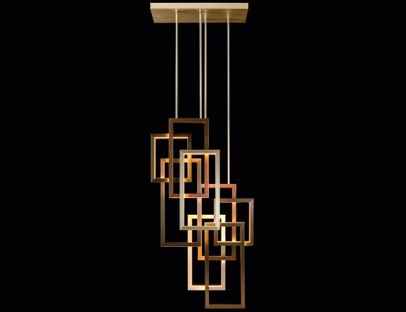 Lusso Edge Vertical Pendant Double Contemporary Italian Hanging