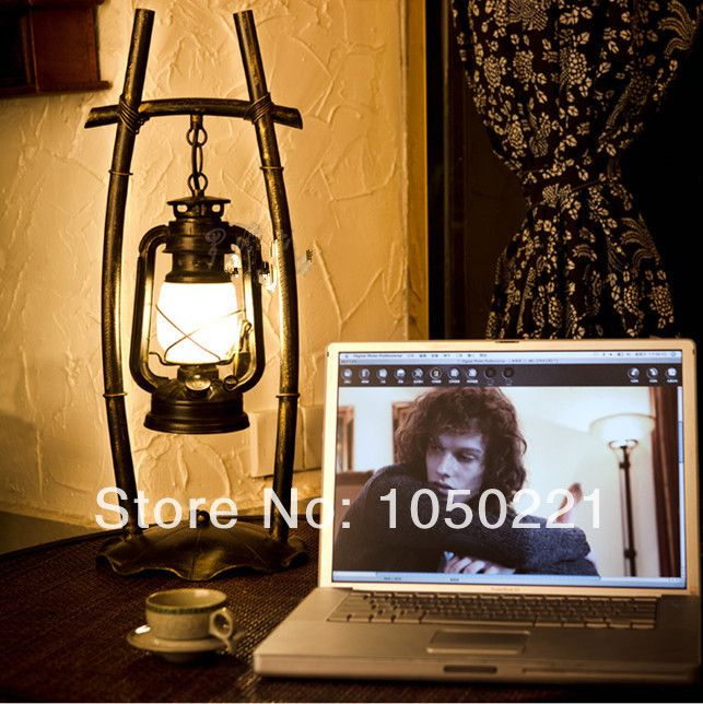 Find More Table Lamps Information about American Country Style Vintage  Lantern Table Lamp Living Room Bedroom - Find More Table Lamps Information About American Country Style