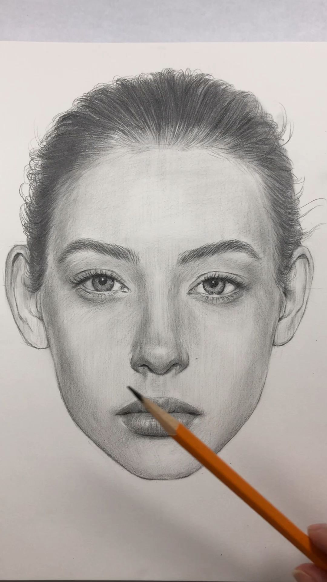 How to Draw a Front Face. Face Proportions by Nadia Coolrista