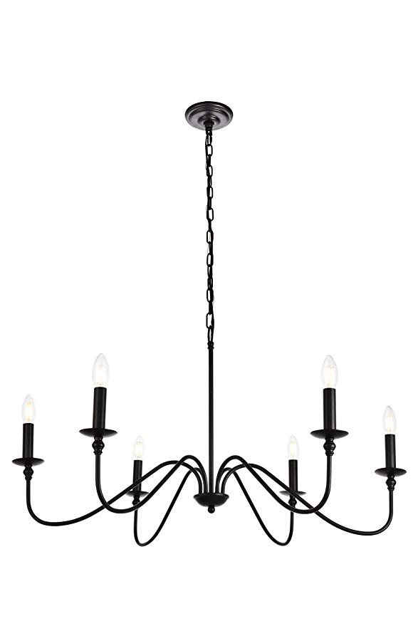 Modern World Amw15018d36mb Chandelier Matte Black Amazon Com In 2020 Candle Style Chandelier Simple Chandelier Black Chandelier
