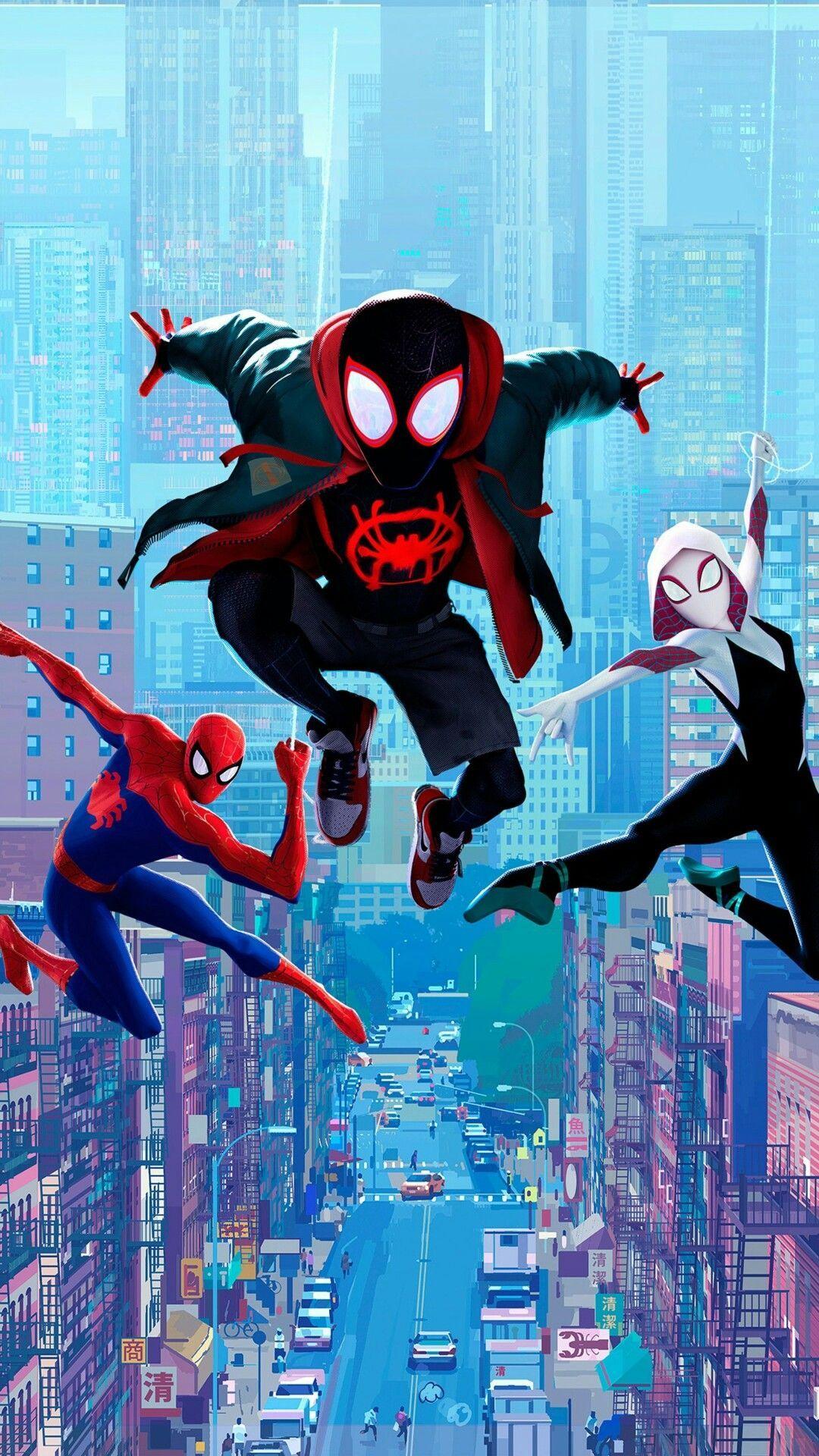 Spiderman Into The Verse Wallpaper Home Screen In 2020 Spiderman Marvel Spiderman Marvel