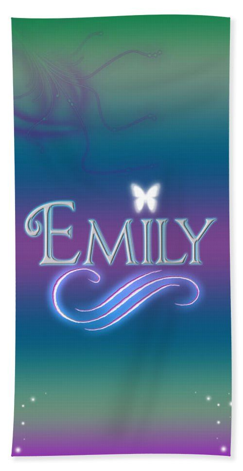 Emily Name Art Hand Towel For Sale By Becca Buecher Name Art Emily Name Wallpaper Iphone Quotes Backgrounds