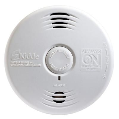 Kidde 10 Year Worry Free Sealed Battery Smoke And Carbon Monoxide Combination Detector With Voice Alarm 21027454 The Home Depot Smoke Alarms Alarm Smoke