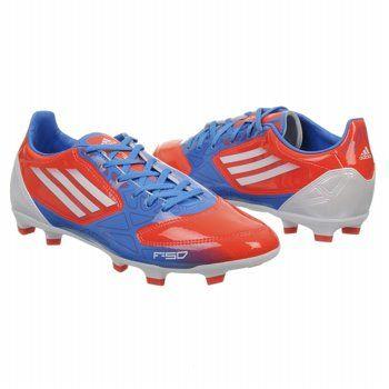 adidas F10 TRX FG Shoes (Infrared/White/Blue) - Men's Shoes - 11.5 M