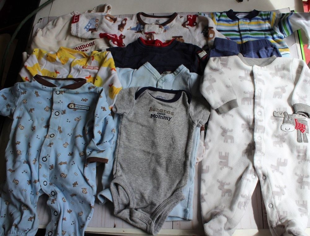298e80b97 Lot of NEWBORN Baby BOY Clothes ~ 10 Pc - Carter s Amy Coe Babies R ...