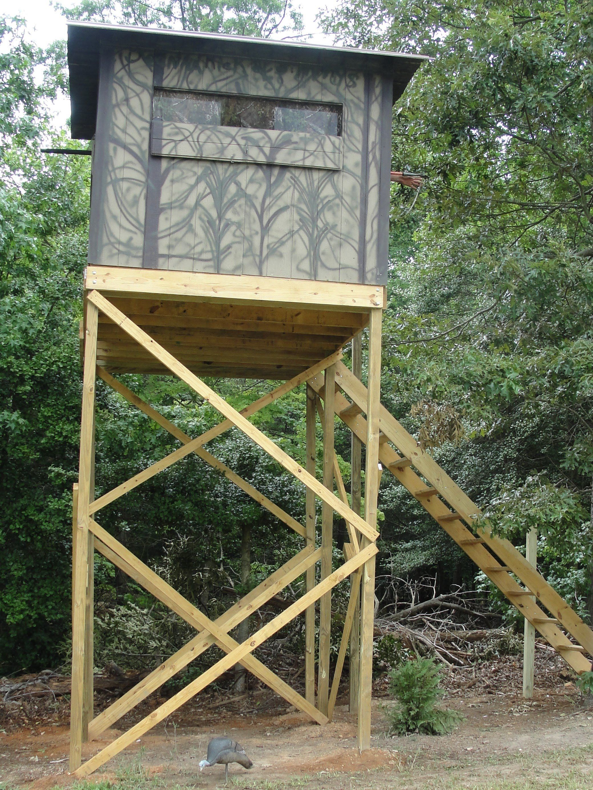 Image result for deer stand heater deer stand for Homemade hunting shack