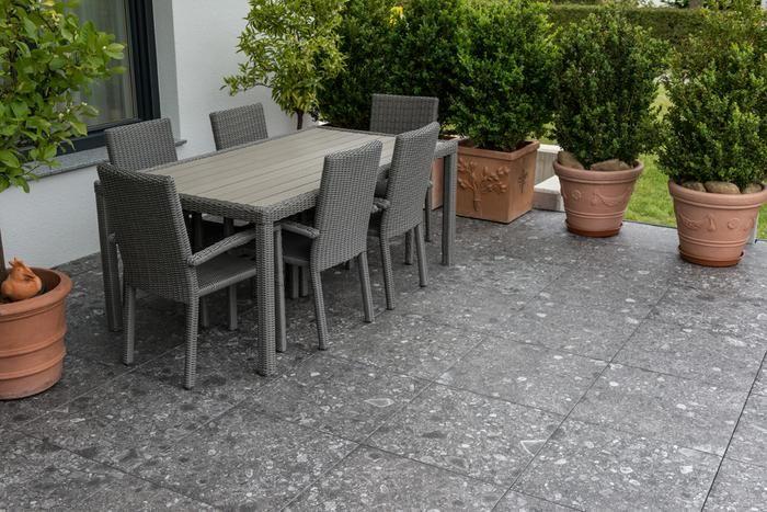 Dikte Natuursteen Tegels : Keramisch natuursteen terrastegel in formaat 60x60 90x90 én