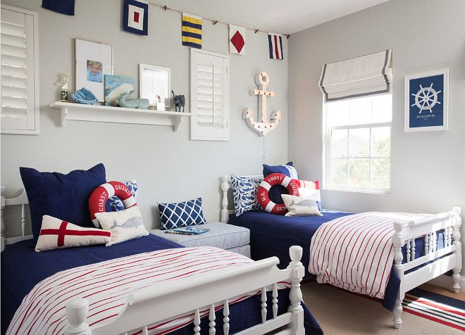 "Kids Bedroom Boy interior design ideas - ""blue sailor themed boys' bedroom"" 