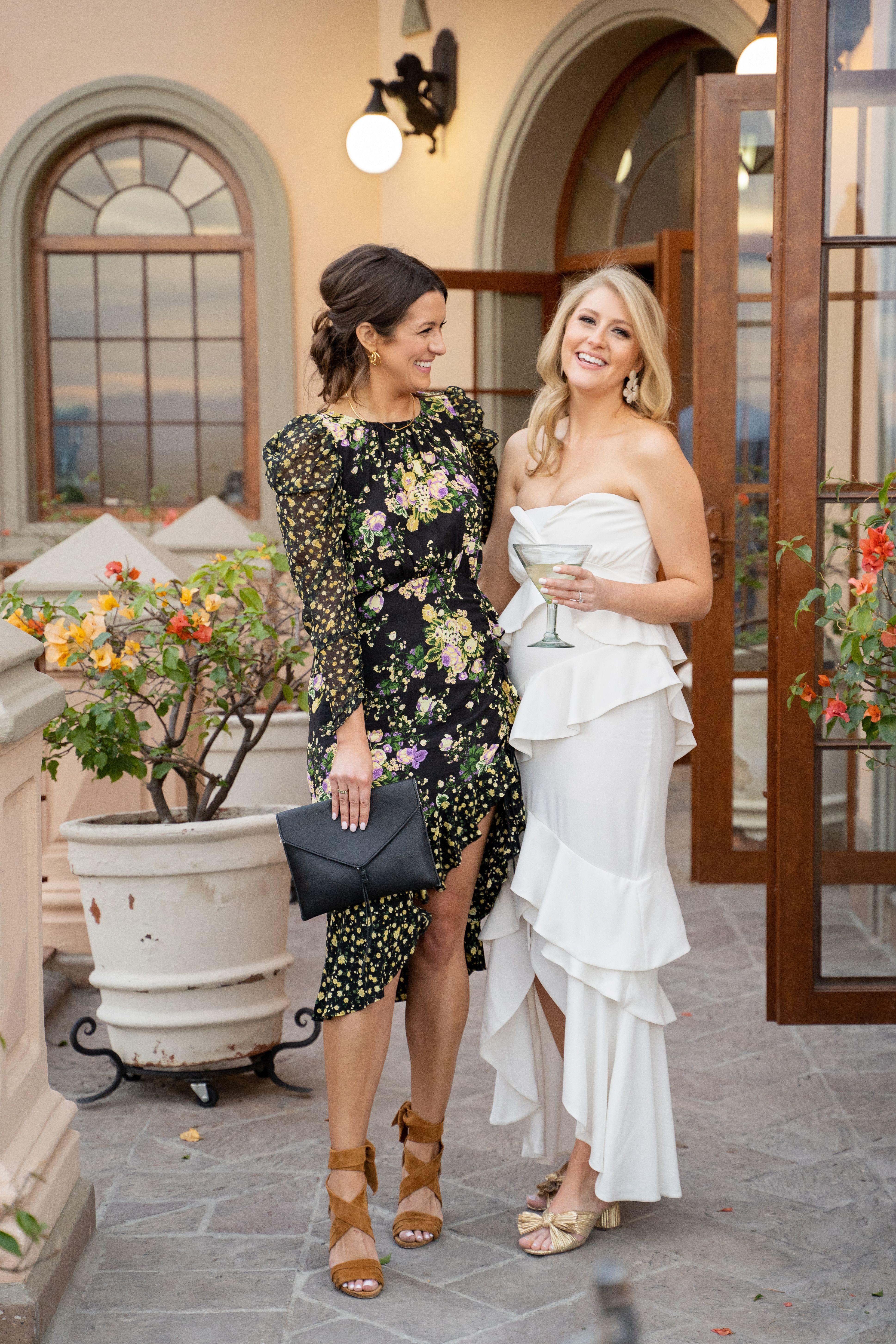 A Bride And Her Bff Rehersal Dinner Dresses Wedding Guest Dress White Wedding Dresses [ 5814 x 3876 Pixel ]