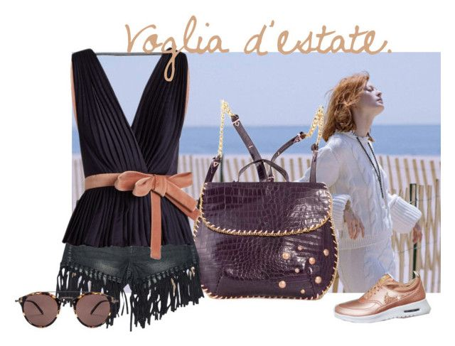 """Voglia d'estate"" by gemelletoscane ❤ liked on Polyvore featuring Sans Souci, Roksanda and Oliver Peoples"