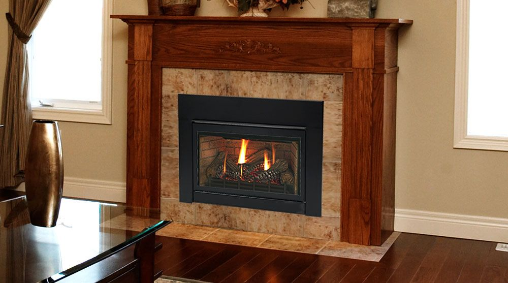 Vented gas fireplace and Fireplace inserts