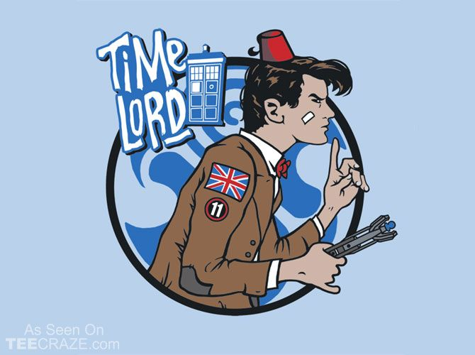 Time Lord T-Shirt Designed by baznet    Source: http://teecraze.com/time-lord-t-shirt-2/