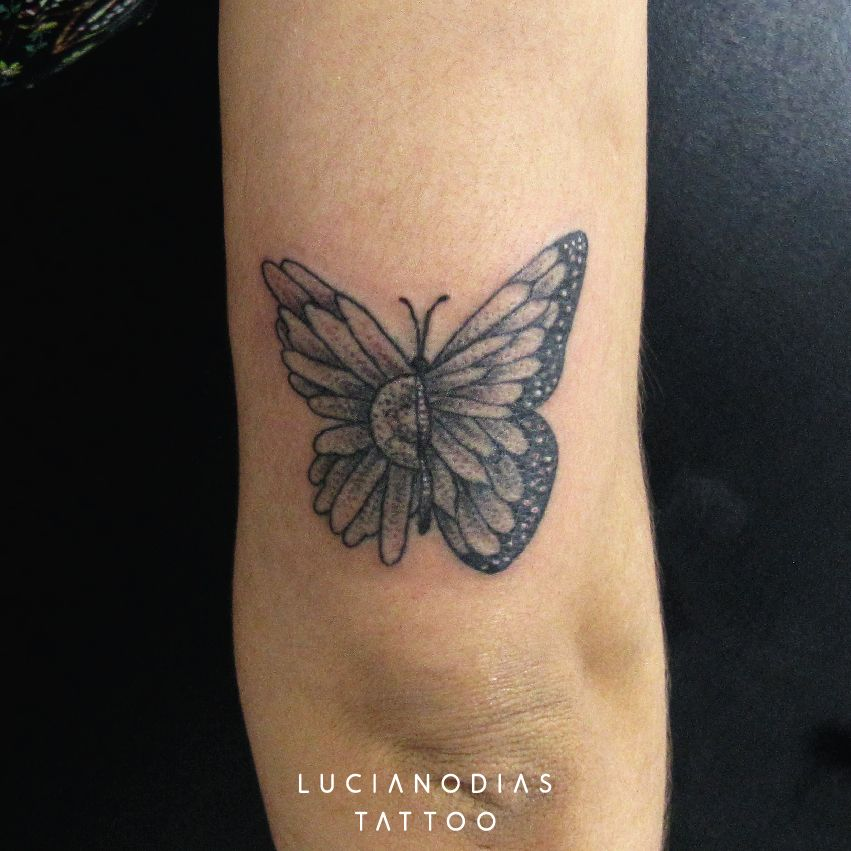 Half Floral Monarch Butterfly For Karly Butterfly Tattoo Tattoos Butterfly Tattoos For Women