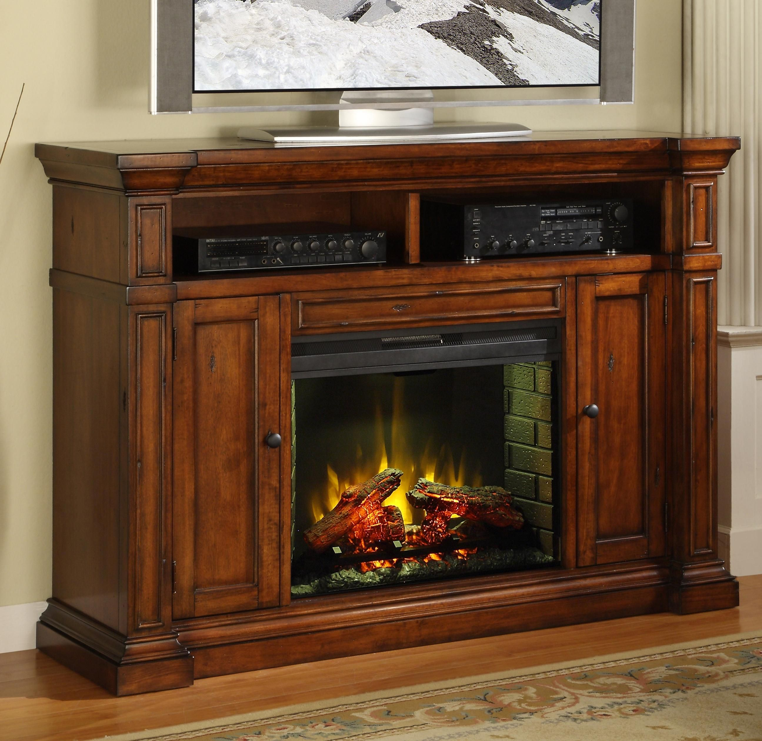 The Berkshire Fireplace Media Center By Legends Furniture Is  # Cheminee Electrique Meuble Tele