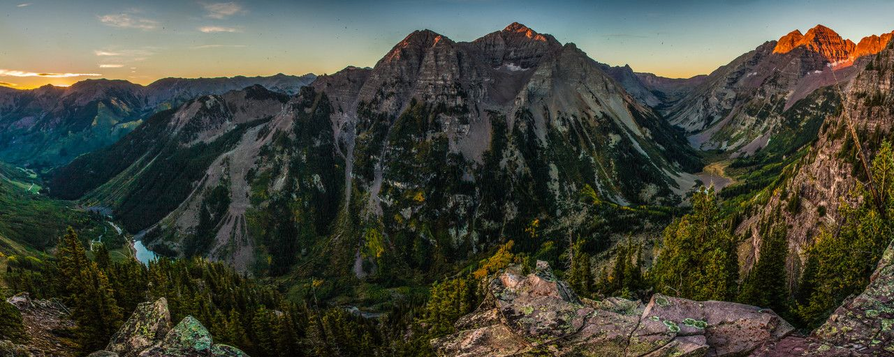 Aspen Highlands, Pyramid Peak and the Maroon Bells at Sunrise - http://tmophoto.smugmug.com