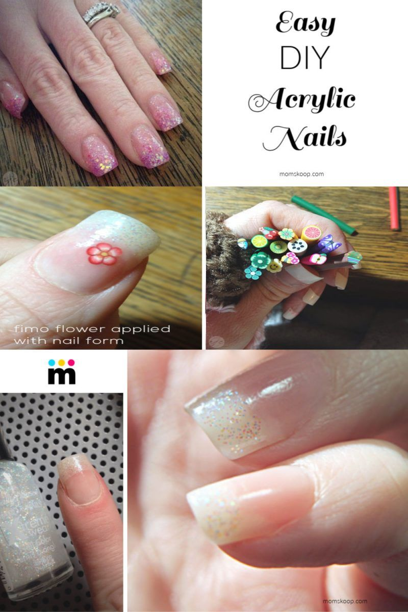 Diy Acrylic Nails Are Easier Then You Think To Do At Home The Best Part About Doing Your Nails At Home In 2020 Diy Acrylic Nails Fake Gel Nails Acrylic