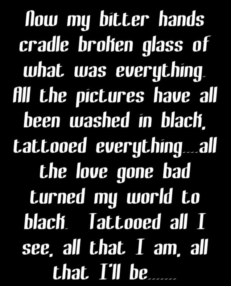 Lyric black lyrics : Pearl jam black song | Black❤ | Pinterest | Pearl jam, Black ...