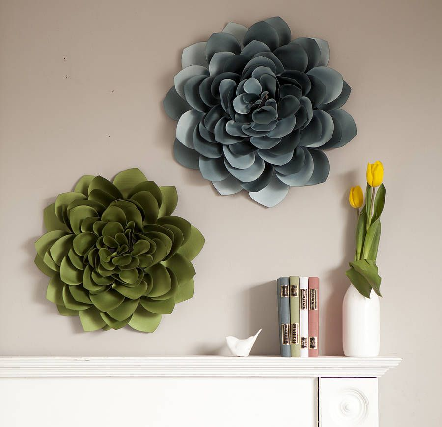 Dahlia wall flower decoration by lorna syson for Home decorations to make