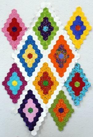 SassyBlog: 12 X 12 Scrappy Hexagon Quilt