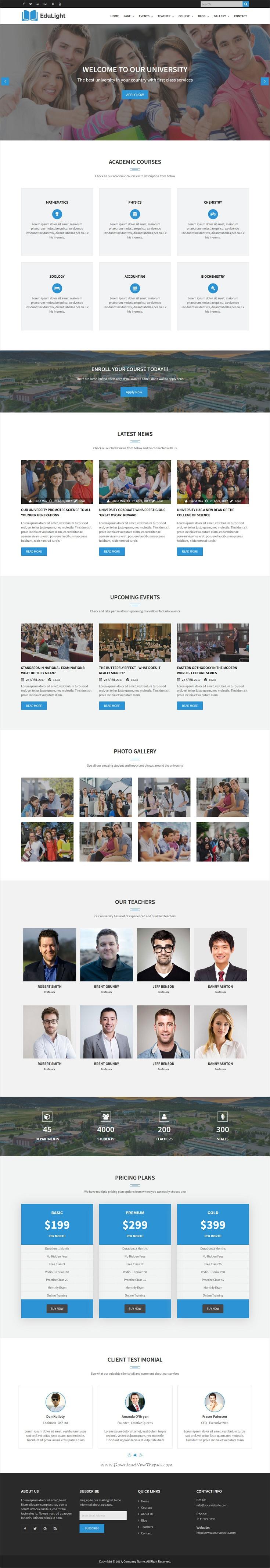 EduLight - University and Education HTML5 Template | Modern ...