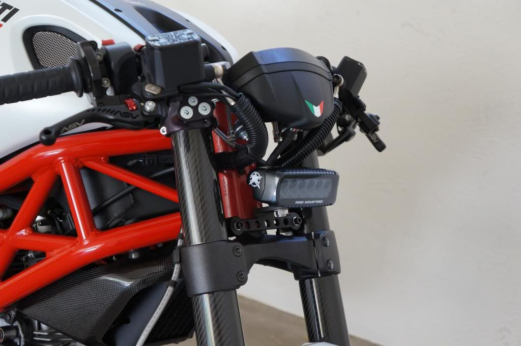 let there be light! m796 led headlight project - ducati monster