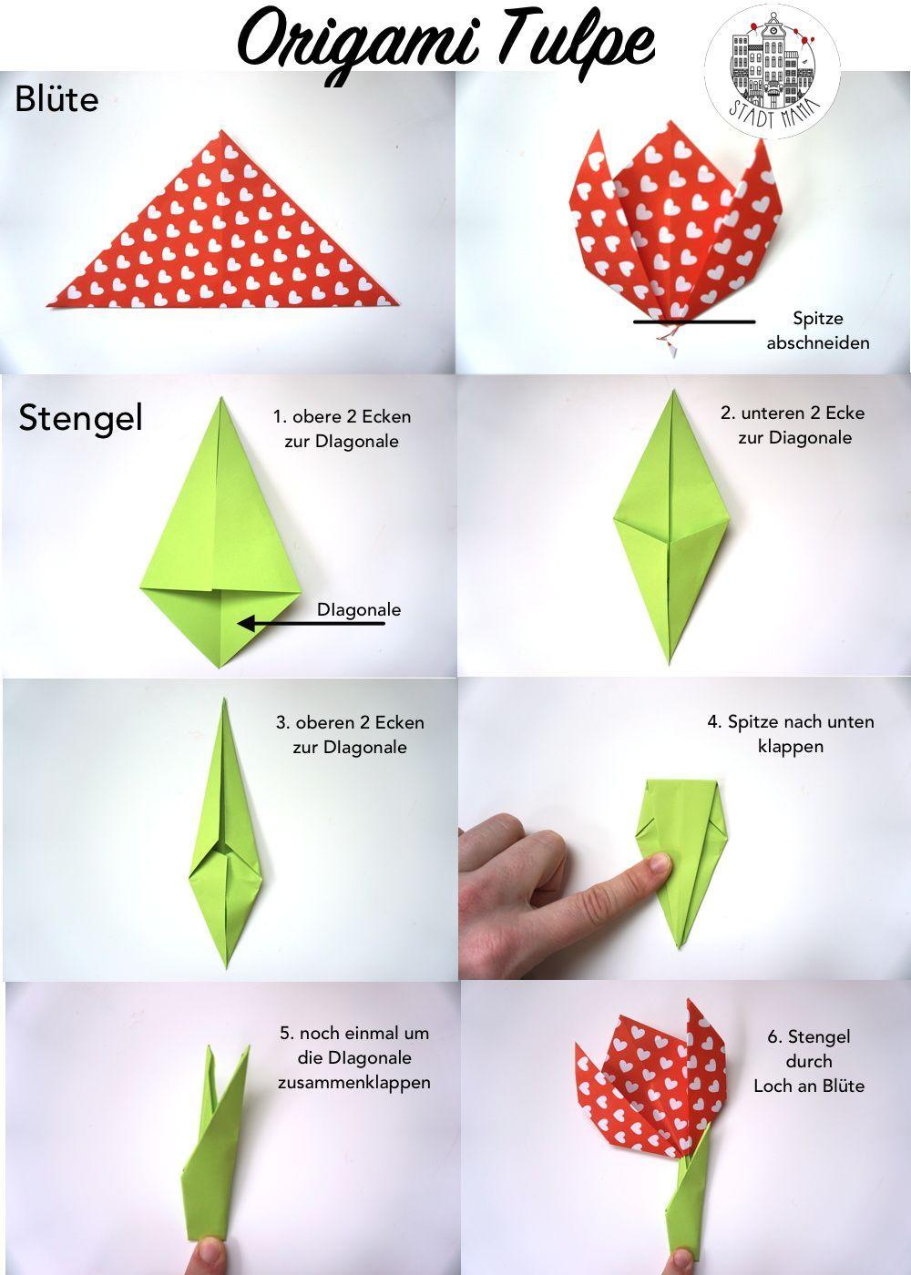 Photo of 3 simple Origami Ideen für Kinder | Häschen, Tulpe und Hund #für #haschen #Hu…
