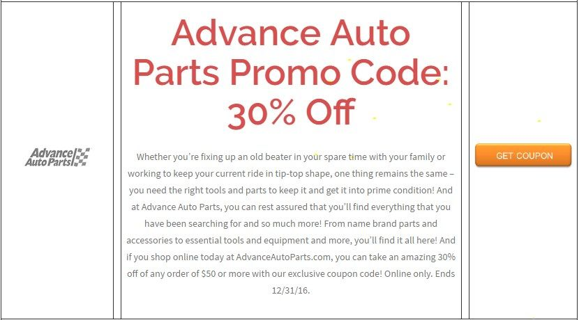 Advance Auto Parts Promo Code 30 Off Brought To You By Http Www Imin Com And Http Www Imin Com Store Coupons Advance A Store Coupons Promo Codes Coupons