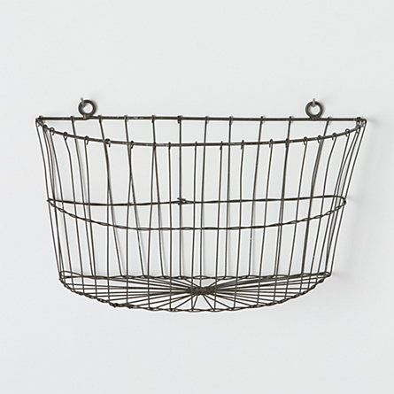 Half Moon Wire Wall Basket Baskets On