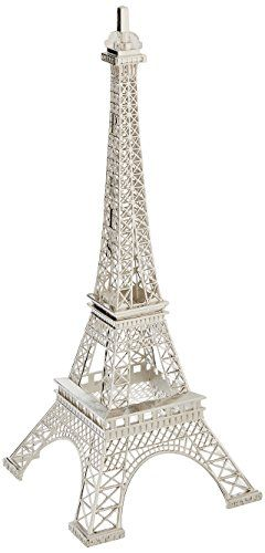 Eiffel Tower Decor Display Silver Statue For A Paris Decor Theme Party Eiffel Tower Decorations Paris Decor Paris Theme Decor