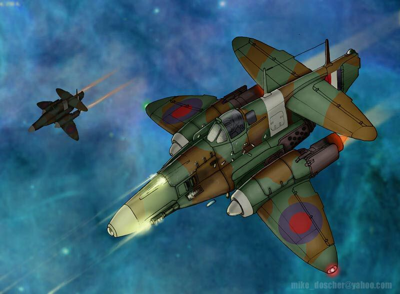 1940s Space Fighter by MikeDoscher on @DeviantArt