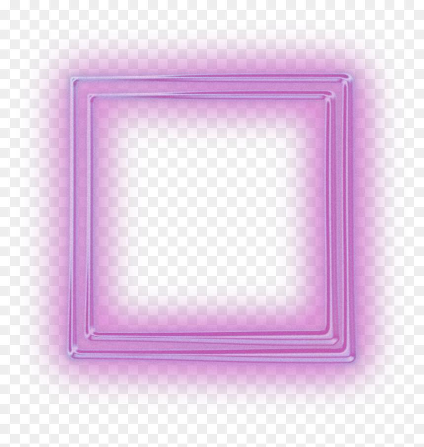 Neon Square Squares Kare Frame Frames Border Borders Transparent Neon Square Hd Png Download Frame Kare Frame Decor