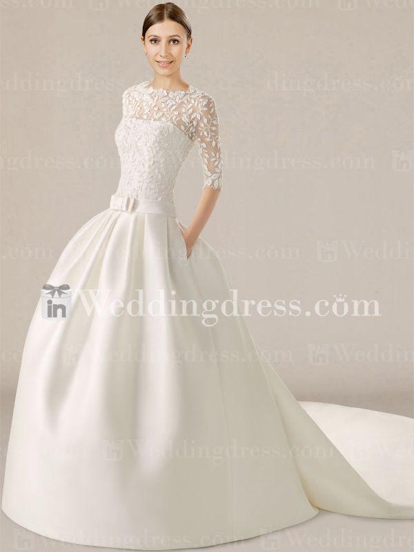 Groß Einzigartige Hochzeitskleider Mit ärmeln Ideen - Brautkleider ...